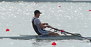 St Catherines, CANADA,  Men's Single Sculls Final, NZL M1X Rob WADDELL, Gold medalist,  approacking the finishing line at the 1999 World Rowing Championships - Martindale Pond, Ontario. 08.1999..[Mandatory Credit; Peter Spurrier/Intersport-images]  .. 1999 FISA. World Rowing Championships, St Catherines, CANADA