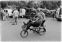 Murray Sayle, an Australian journalist, 30th anniversary of Moulton Bikes in the presence of Dr Alexander Moulton CBE. September 1992