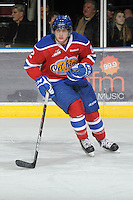 KELOWNA, CANADA, FEBRUARY 15: Cody Corbett #2 of the Edmonton Oil Kings skates on the ice at the Kelowna Rockets on February 15, 2012 at Prospera Place in Kelowna, British Columbia, Canada (Photo by Marissa Baecker/Shoot the Breeze) *** Local Caption ***