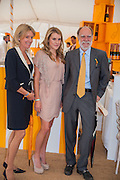 LADY COWDRAY; ELIZA PEARSON; LORD COWDRAY, The Veuve Clicquot Gold Cup Final.<br /> Cowdray Park Polo Club, Midhurst, , West Sussex. 15 July 2012.