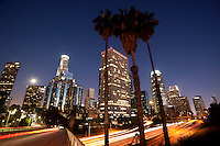 Downtown Los Angeles at Night, California