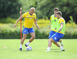 Bristol Rovers' Mitch Harding on the ball - Photo mandatory by-line: Joe Meredith/JMP - Tel: Mobile: 07966 386802 24/06/2013 - SPORT - FOOTBALL - Bristol -  Bristol Rovers - Pre Season Training - Npower League Two