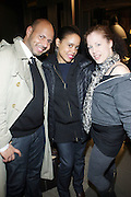 l to r: Emil Welbkin, Janene Outlaw and Sara Rosen at The Timberland New Store Opening in Soho featuring a Powerhouse Books Exhibition, ' Nature of a City ' featuring NY based Photographers Janette Beckman, Vivian Cherry, Martha Cooper, Arlene Gottfried, Lisa Kahane, Maripol, Ricky Powell and Jamel Shabazz held at The Timberland Store in New York City on March 27, 2009..The exhibit, entitled Nature of a City, features images from the powerHouse archives that capture the energy and vitality of a city that - like Timberland - is constantly evolving, creating and defying trends. For the exhibit, powerHouse and Timberland selected photos from New York-based photographers Janette Beckman, Vivian Cherry, Martha Cooper, Arlene Gottfried, Lisa Kahane, Maripol, Ricky Powell and Jamel Shabazz.