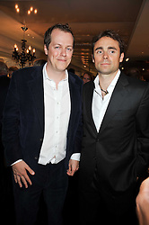 Left to right, TOM PARKER BOWLES and WILLIAM ARCHER at the launch of Tom Parker Bowles's new book 'Full English' held in the Gallery Restaurant, Selfridges, Oxford Street, London on 9th September 2009.