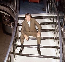 Jerry Lee Lewis pictured at a press reception at the Mayfair Hotel, London.