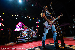 Jesse James Dupree, lead vocalist of Jackyl (and part of the Full Throttle Saloon and Jesse James Bourbon) performing on Jackyl night at the Full Throttle Saloon during the Sturgis Black Hills Motorcycle Rally. SD, USA. Thursday, August 8, 2019. Photography ©2019 Michael Lichter.