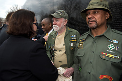 March 29, 2019 - Washington, District of Columbia, U.S. - Acting Principal Deputy Assistant to the U.S. Secretary of Defense for Public Affairs, Kim Joiner, and Veterans Affairs Executive Director, Office of Public and Intergovernmental Affairs, Gary Tallman, lay a wreath to honor the second anniversary of National Vietnam War Veterans Day at the Vietnam War Memorial, Washington, D.C., March 29, 2019. The Department of Defense will also support more than 1,600 events in several states across the nation to recognize, honor and thank U.S. Vietnam veterans and their families for their service and sacrifices. (Credit Image: ? DoD/ZUMA Wire/ZUMAPRESS.com)