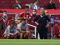 Football - 2021 / 2022 Women's Super League - Arsenal vs Chelsea - Emirates Stadium - Sunday 5th September 2021<br /> <br /> Chelsea FC Women's Manager Emma Hayes looks on from the touchline.<br /> <br /> COLORSPORT/Ashley Western