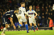 GOAL Callum Camps watches as the ball as he scores the winner during the EFL Sky Bet League 1 match between Southend United and Rochdale at Roots Hall, Southend, England on 22 December 2018.
