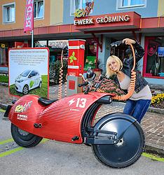 THEMENBILD - Johammer Elektromotorrad J1, Elektro-Cruiser mit innovativer Energietechnologie, 200 km Reichweite und 16 kW, entwickelt und produziert in Österreich, aufgenommen am 08.09.2015 in Gröbming, Steiermark, Österreich // electric bike Johammer J1 in Gröbming, Styria, Austria on 2015/09/08. EXPA Pictures © 2015, PhotoCredit: EXPA/ Martin Huber. EXPA Pictures © 2016, PhotoCredit: EXPA/ Martin Huber