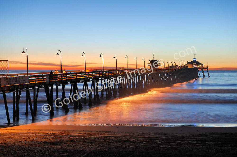 The original Imperial Beach pier was built in 1909. It was constructed to generate electricity from wave action for the town. The massive machinery located on the end of the pier was called the Edwards Wave Motor. It proved to be a failed experiment and was later removed. The last of the original pier was destroyed by a winter storm in 1948.