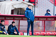 Stevenage manager Alex Revell during the EFL Sky Bet League 2 match between Stevenage and Morecambe at the Lamex Stadium, Stevenage, England on 6 February 2021.