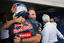 Race winner Daniel Ricciardo (AUS) Red Bull Racing celebrates in parc ferme with Christian Horner (GBR) Red Bull Racing Team Principal.<br /> 02.10.2016. Formula 1 World Championship, Rd 16, Malaysian Grand Prix, Sepang, Malaysia, Sunday.<br /> Copyright: Photo4 / XPB Images / action press