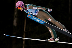 February 7, 2019 - Ljubno, Savinjska, Slovenia - Zdenka Pesatova of Czech Republic competes on qualification day of the FIS Ski Jumping World Cup Ladies Ljubno on February 7, 2019 in Ljubno, Slovenia. (Credit Image: © Rok Rakun/Pacific Press via ZUMA Wire)