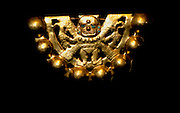PERU, PREHISPANIC, GOLD Mochica; Lord of Sipan rattle