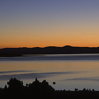 MONO LAKE, CALIF. Dawn over Mono Lake & Tufa towers, Sierra Nevada, CA.