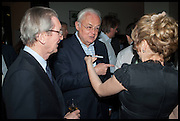 DAVID MONTGOMERY; MARTYN LEWIS; RACHEL KELLY, Launch of Rachel Kelly's memoir 'Black Rainbow' about recovering from depression with the help of poetry published by Hodder & Stoughton , ( Author proceeds will be given to the charities SANE and United Response ). Cafe of the National Gallery.  London. 7 May 2014