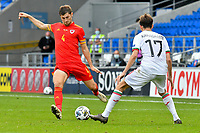 Football - 2020 / 2021 UEFA Nations League - Group B4 - Wales vs Bulgaria<br />      <br /> Ben Davies of Wales on the attack <br /> in a match played with no crowd due to Covid 19 coronavirus emergency regulations, in an almost empty ground, at the Cardiff City Stadium.<br /> <br /> COLORSPORT/WINSTON BYNORTH