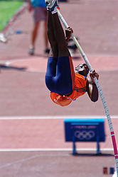 Eugene Martineau in action during Olympics Games Athletics day 12 on August 24, 2004 in Olympic Stadion Spyridon Louis, Athens.