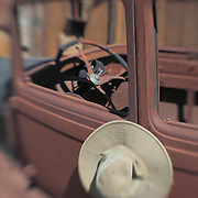 Abandoned Truck With Hat - Randsburg,CA - Lensbaby