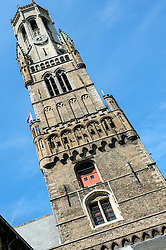 The belfry of Bruges, or Belfort, is a medieval bell tower in the historical centre of Bruges, Belgium.<br /> <br /> (c) Andrew Wilson | Edinburgh Elite media