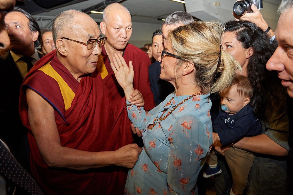 Dalai Lama participating in Interreligious Meeting, Freedom through Rules & Public Talk on Peace through Education