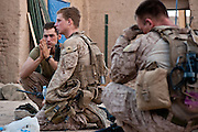 Marines mourn after learning of the death of Lance Corporal Daniel Raney.