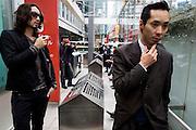 Smokers' corner at Hachiko square in Shibuya. Tokyo - JAPAN