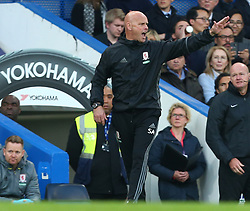 May 8, 2017 - Chelsea, Greater London, United Kingdom - Steve Agnew manager of Middlesbrough.during Premier League match between Chelsea and Middlesbrough at Stamford Bridge, London, England on 08 May 2017. (Credit Image: © Kieran Galvin/NurPhoto via ZUMA Press)