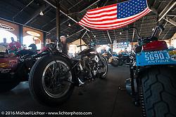 "Warren Lane's ""True Grit"" pre-1977 vintage show at the Jester's Pavillion at Destination Daytona during the Daytona Bike Week 75th Anniversary event. FL, USA. Sunday March 6, 2016.  Photography ©2016 Michael Lichter."