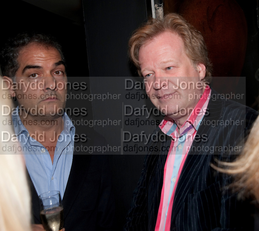 PHILIP KERR; CHRISTOPHER SYLVESTER, Book party for Janine di Giovanni's Ghosts by Daylight. Blake's Hotel. South Kensington. London. 12 July 2011. <br /> <br />  , -DO NOT ARCHIVE-© Copyright Photograph by Dafydd Jones. 248 Clapham Rd. London SW9 0PZ. Tel 0207 820 0771. www.dafjones.com.