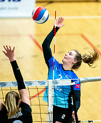 Siska Hoekstra of Zwolle in action during the first league match between Djopzz Regio Zwolle Volleybal - Laudame Financials VCN on February 27, 2021 in Zwolle.
