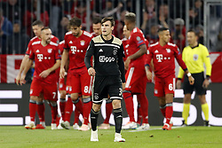 Nico Tagliafico of Ajax during the UEFA Champions League group E match between Bayern Munich and Ajax Amsterdam at the Allianz Arena on October 02, 2018 in Munich, Germany