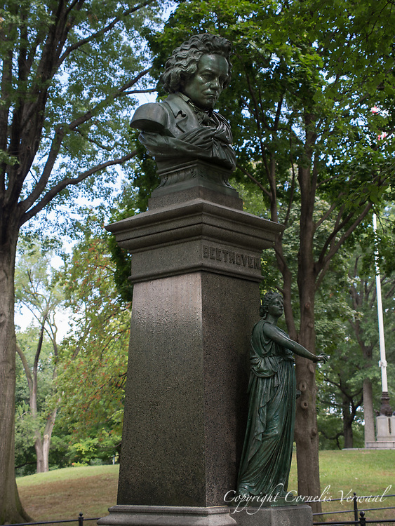 Sculpture of  Beethoven in Central Park, New York City