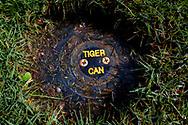 16-10-2015 -  Foto: Tiger can sprinkler. Genomen tijdens een persreis met de Rocco Forte Invitational op Verdura Golf & Spa Resort in Sciacca (Agrigento), Italië.