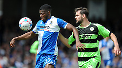 Bristol Rovers' Nathan Blissett battles for the ball with Forest Green Rovers's Danny Coles - Photo mandatory by-line: Alex James/JMP - Mobile: 07966 386802 - 03/05/2015 - SPORT - Football - Bristol - Memorial Stadium - Bristol Rovers v Forest Green Rovers - Vanarama Football Conference