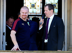 Burnley Manager Sean Dyche chats with Alastair Campbell - Mandatory by-line: Matt McNulty/JMP - 09/05/2016 - FOOTBALL - Burnley Town Hall - Burnley, England - Burnley FC Championship Trophy Presentation