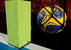 EHF handball ball,  on February 19, 2010 in Arena Kodeljevo, Ljubljana, Slovenia. (Photo by Vid Ponikvar / Sportida)