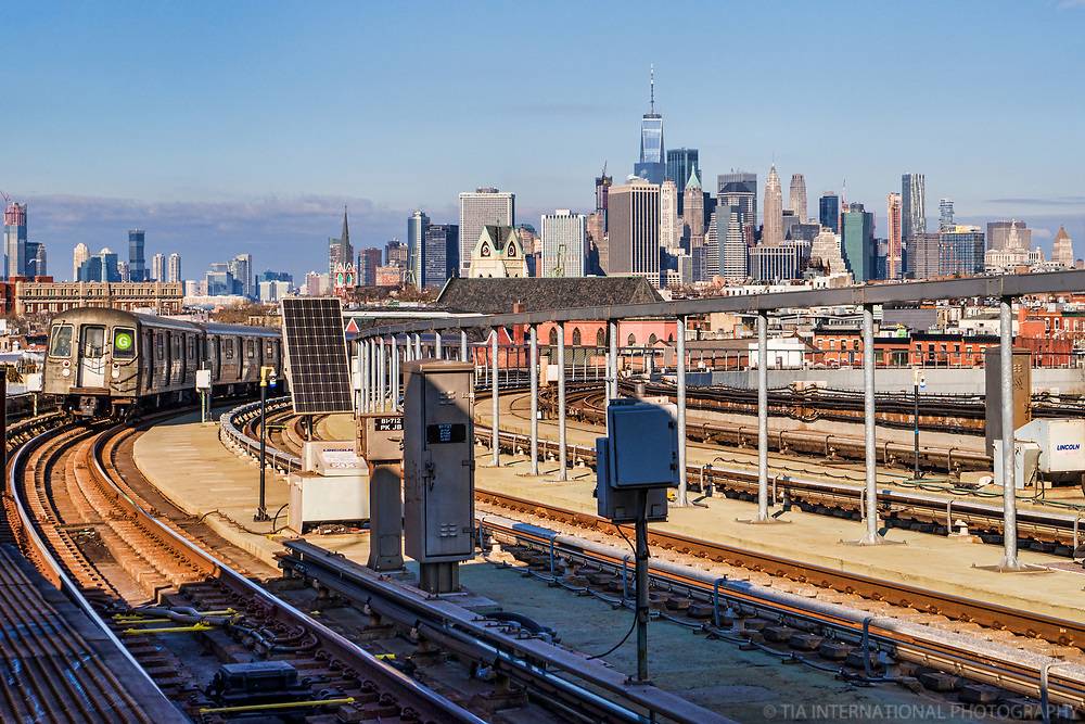 View of Downtown NYC from Smith-9th Street Station, Brooklyn
