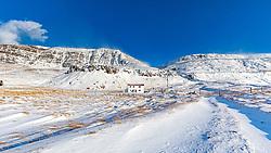 THEMENBILD - Klofningsvegur Dalabyggo Haus bei Ormsstaoir, aufgenommen am 23. Oktober 2019 in Island // Klofningsvegur  Dalabyggo, Iceland on 2019/10/23. EXPA Pictures © 2019, PhotoCredit: EXPA/ Peter Rinderer