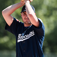 23 May 2010: Starting pitcher Joris Navarro of Montpellier pitches against the PUC during game 2/week 7 of the French Elite season match won 8-7 by Montpellier over the PUC, at the Pershing Stadium in Vincennes, near Paris, France.