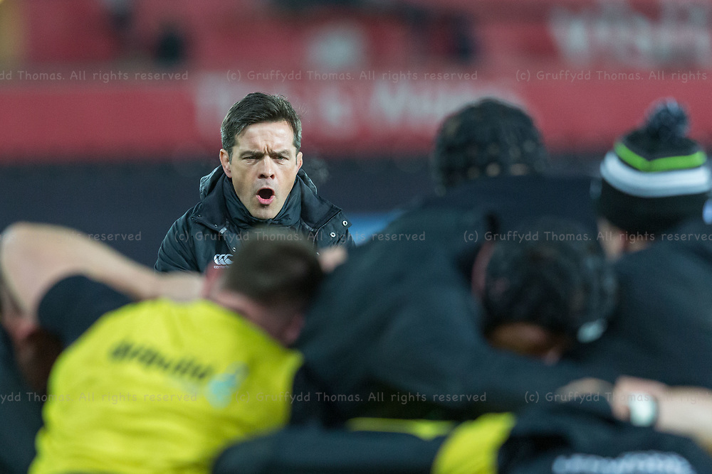 Liberty Stadium, Swansea, Wales, UK. Friday 16 February 2018.  Ospreys Coach Allen Clarke ahead of the Guinness Pro14 match between Ospreys and Southern Kings.