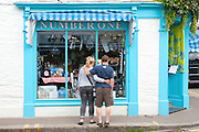 Padstow shop and stripes