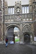Entrance, King's College, Cambridge, England
