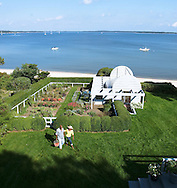 B. Smith and husband Dan Gasby in their garden, Sag Harbor, NY
