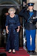 Galadiner voor het Corps Diplomatique in het Koninklijk Paleis in Amsterdam // Gala dinner for the Corps Diplomatique at the Royal Palace in Amsterdam<br /> <br /> Op de foto:
