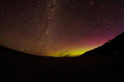 Aoraki Mount Cook Aurora australis