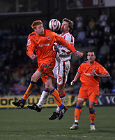 Photo: Tony Oudot/Richard Lane Photography. Crystal Palace v Reading. Coca-Cola Football League Championship. 21/03/2009. <br /> Dave Kitson of Reading is challenged by Matt Lawrence of Palace