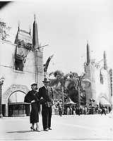 1936 John Holliday & Marsha Hunt in front of Grauman's Chinese Theater