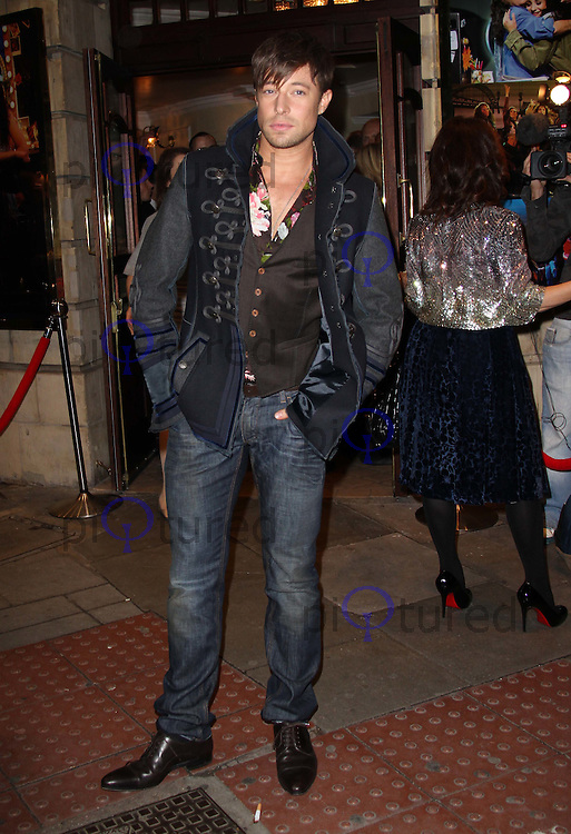 Duncan James Flashdance The Musical Gala Night, The Shaftesbury Theatre, London, UK, 14 October 2010: For piQtured Sales contact: Ian@Piqtured.com +44(0)791 626 2580 (picture by Richard Goldschmidt)